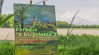 'A bicyclette 2' +  Baisse t'oeuf  vidéoparodie de Stéphanie Muzard avec Xavier Faure, répétition