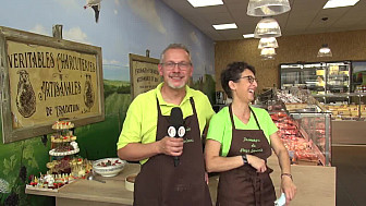 ''Fromagerie du Pays Savinois'' à Saujon en Charente-Maritime :  interview de Jean-Yves et Angélique après l'inauguration de cette toute nouvelle Fromagerie Crèmerie qui avait lieu le 18 septembre 2020