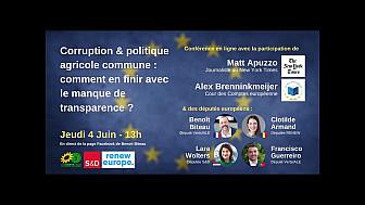 REPLAY 'Corruption & aides PAC : en finir avec le manque de transparence ?' @BenoitBiteau @clotilde_armand @BrenninkmeijerA @FGuerreiroMEP @mattapuzzo @larawoltersEU @AmeliePoinssot